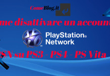 disattivare account psn ps3 ps4 ps vita