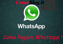pagare whatsapp