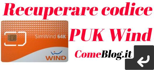codice puk wind