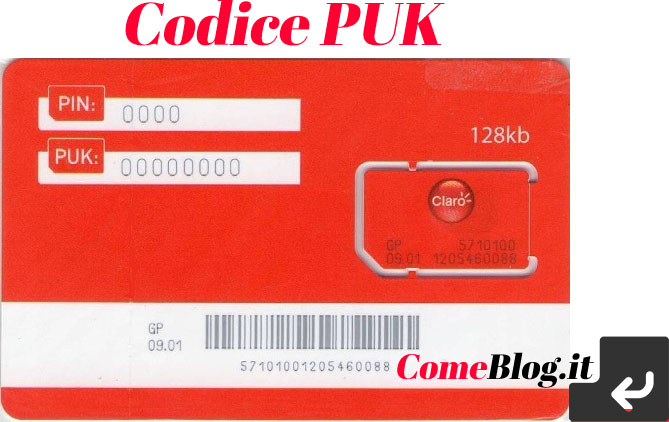 codice puk