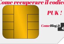 recuperare codice puk