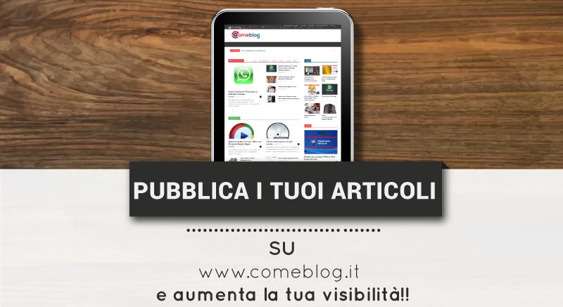 Pubblicare articoli online nuove notizie
